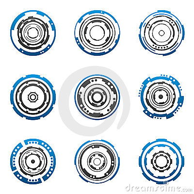 Free Concentric Gear Shapes Stock Image - 4716551