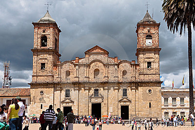 Concepcion Church Facade Zipaquira Colombia Royalty Free Stock Photo - Image: 22258565