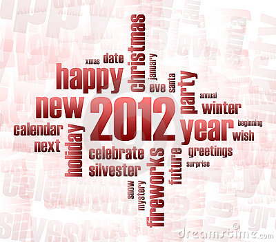 Concept of 2012 year theme