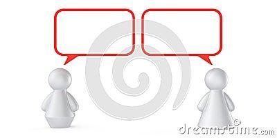 Concept abstrait de communication
