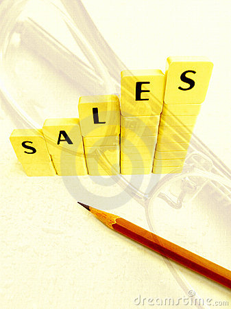 Concept of achieving sales increase