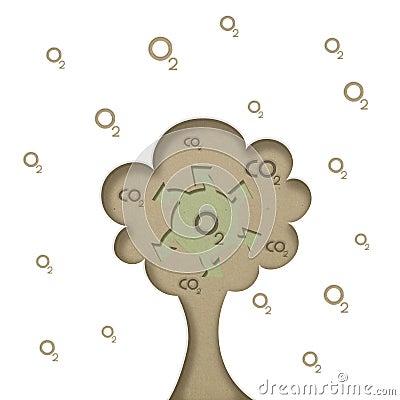 Concept art tree generated oxygen