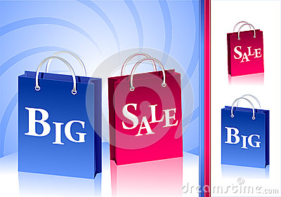 Concept Big Sale and isolate two  packages