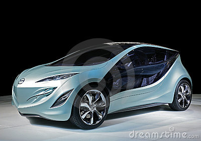 Concept car mazda electrique Editorial Stock Image