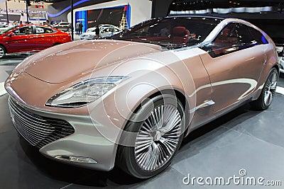 Concept car in show Editorial Stock Photo