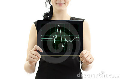 Concept: cardiogram with heartbeat.