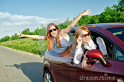 Concept of carefree roadtrip