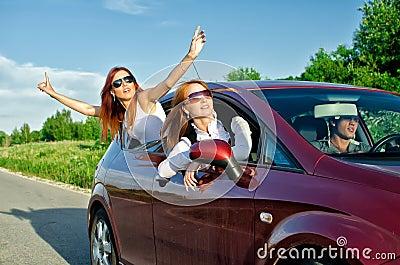 Concept of carefree roadtrip