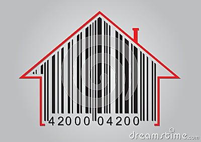 Concept commercial avec le code barres