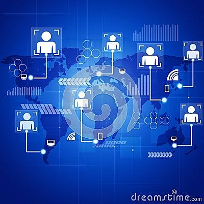 Concept Connections Blue Background