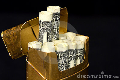 Concept - Costly Habit Cigarettes
