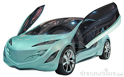Concept coupe isolated