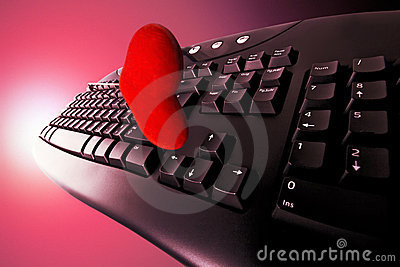Concept dating on-line in red