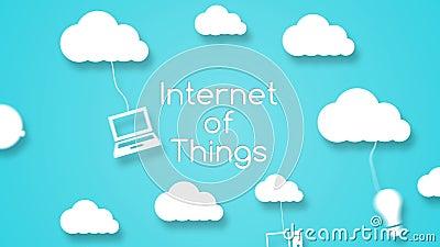 Concept de calcul de nuage avec des apps illustration de vecteur