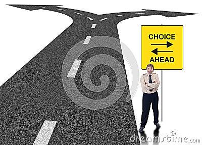 Concept de choix d affaires