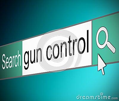 Concept de contrôle des armes.