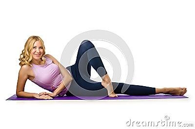 Concept de sport - femme faisant des sports