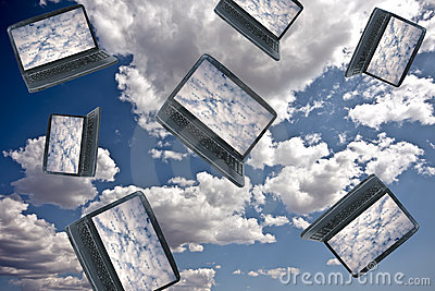 Concept de technologie de calcul de nuage