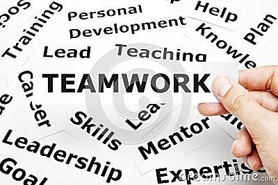 Concept de travail d équipe