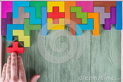 Concept of decision making process, logical thinking. Logical tasks. Stock Photo