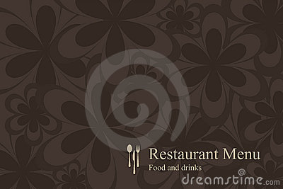 Concept design restaurant menu