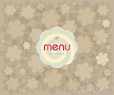 Concept design restaurant menu