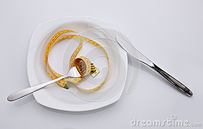 Concept of dieting  food