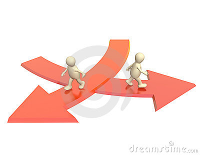 Concept - different direction in business