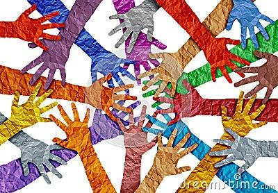 Concept Of Diversity Cartoon Illustration