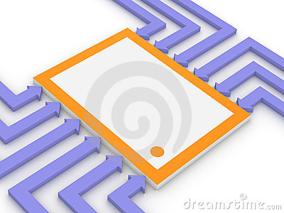 Concept of electronic microchip