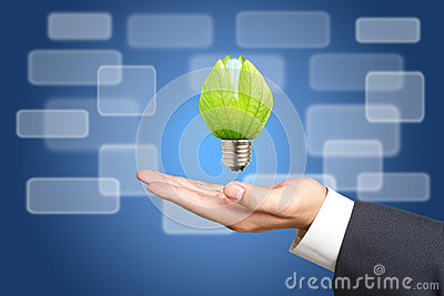 Concept of energy saving light bulbs