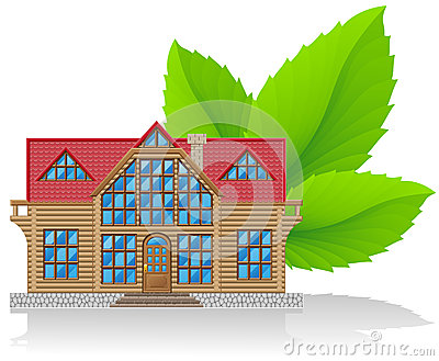 Concept of environmental home  illustration