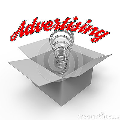 Free Concept For Advertising Industry. Stock Images - 51115904