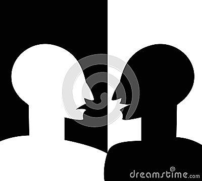Concept gespleten persoonlijkheid