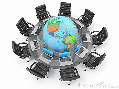 Concept of global business communication.