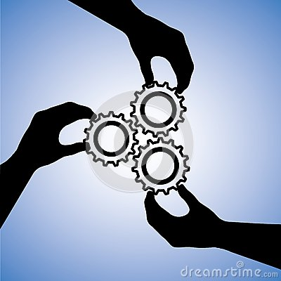 Free Concept Graphic Of Teamwork & People Cooperating Stock Images - 26930564