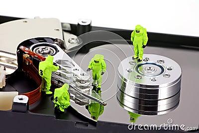 Concept: HAZMAT remove virus