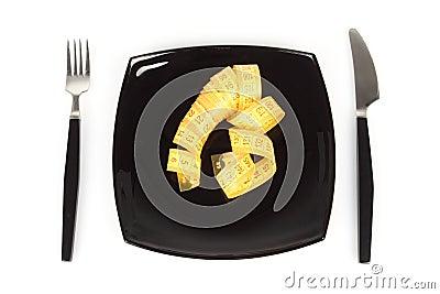 Concept het extreme op dieet zijn