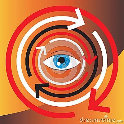 Concept illustration of human vision and psycholog