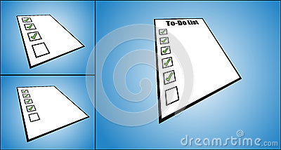 Concept Illustration of to do list or task list