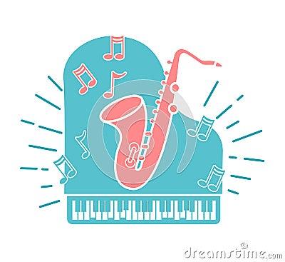 Concept of jazz music Stock Photo