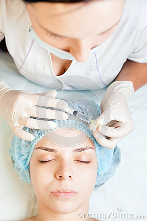 Concept of medical treatment of rejuvenation and skincare for Acne salon treatments