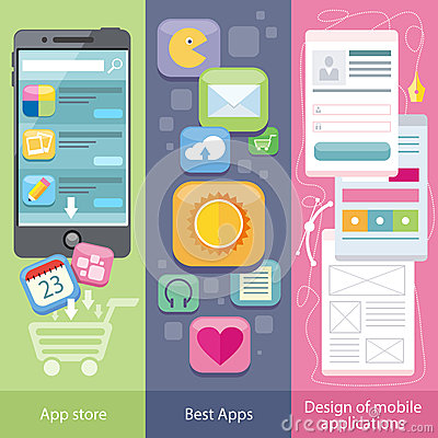 Concept Of Mobile Application Store Stock Vector Image