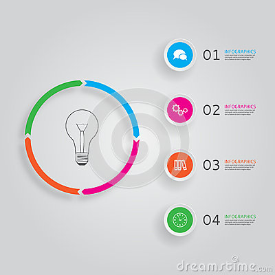 Concept of modern infographics with four options