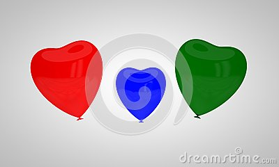 The concept of multi-colored balloons Stock Photo