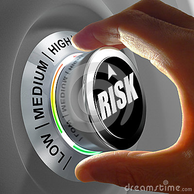 Free Concept Of A Button Adjusting Or Minimizing Potential Risk Royalty Free Stock Photos - 45721128