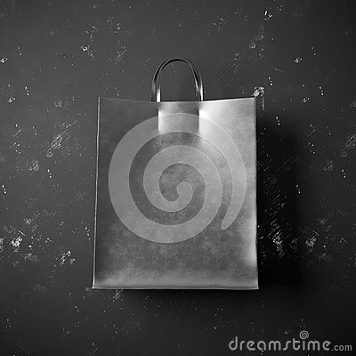 Free Concept Of Black Packet Bag On The Dark Background Stock Photo - 65222630