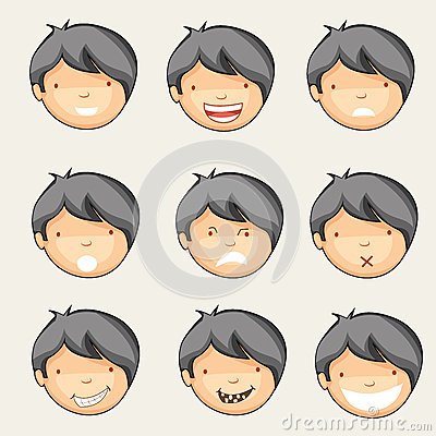 Free Concept Of Different Expressions. Royalty Free Stock Photos - 48089218
