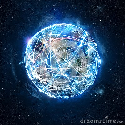 Free Concept Of Global Internet Connection Network . World Provided By Nasa Royalty Free Stock Photography - 103818707