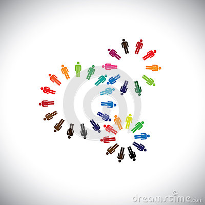 Free Concept Of People As Cogwheels Representing Communities & Teams Royalty Free Stock Photos - 30737988